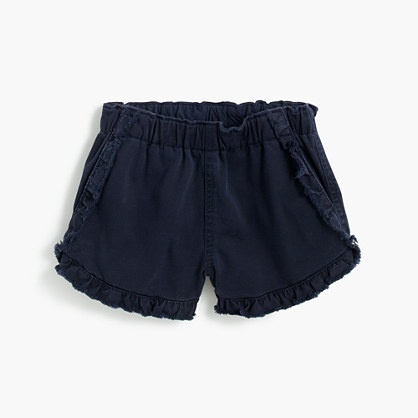 Girls' pull-on ruffle short
