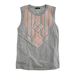 Lace appliqué tank top