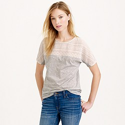 Embroidered eyelet T-shirt