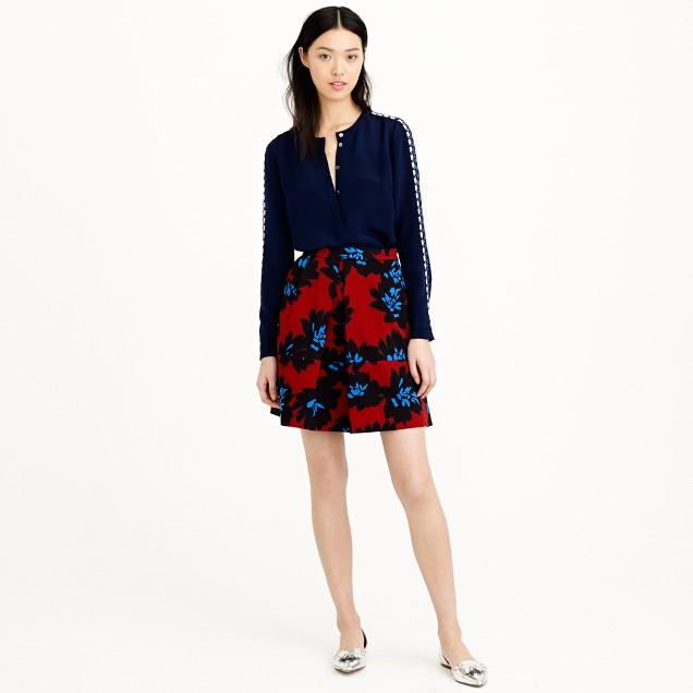 Firework floral skirt