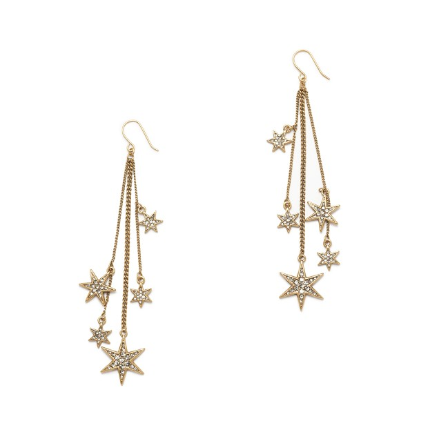 Tiny shooting star earrings