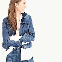Petite denim jacket in Tyler wash