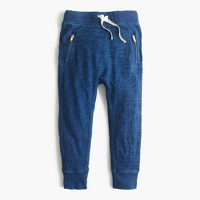 Girls' skinny zip sweatpant in indigo