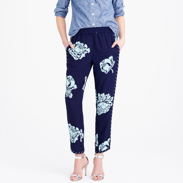 Reese pant in graphic peony
