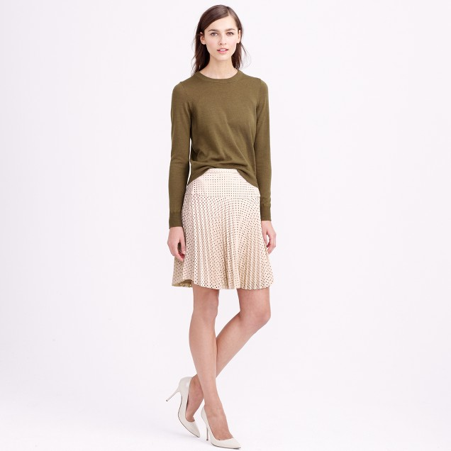 Laser-cut pleated skirt