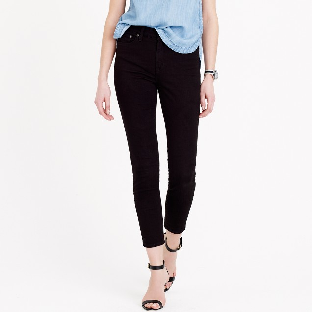 Tall lookout high-rise crop jean in black