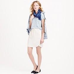 Drapey double-twill skirt