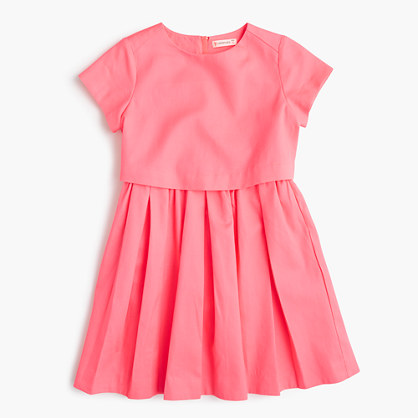 Girls' two-tier dress
