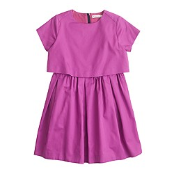 Girls' two-tier dress