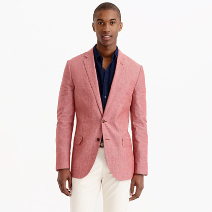 Ludlow sportcoat in japanese chambray cotton j crew