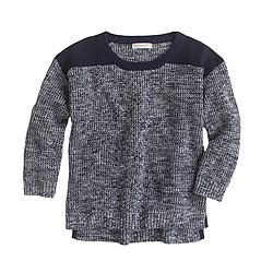 Girls' waffle-knit SWEATER
