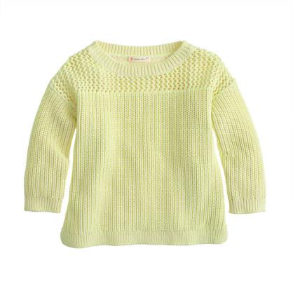 Girls' double-stitch sweater