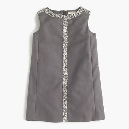 Girls' embellished shift dress
