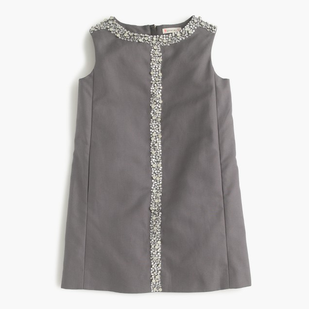 Girls' embellished shift dress