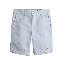 Boys' stanton short with embroidered sharks