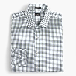Ludlow spread-collar shirt in tattersall