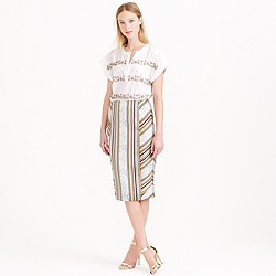 Collection stripe ikat pencil skirt