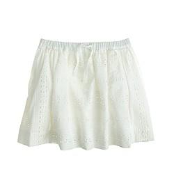 Girls' pull-on eyelet skirt