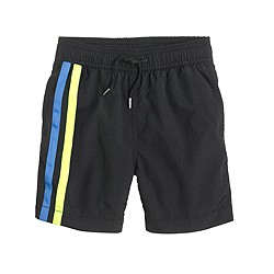 Boys' swim trunk in double stripe