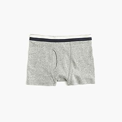 Boys' knit boxers in granite stripe