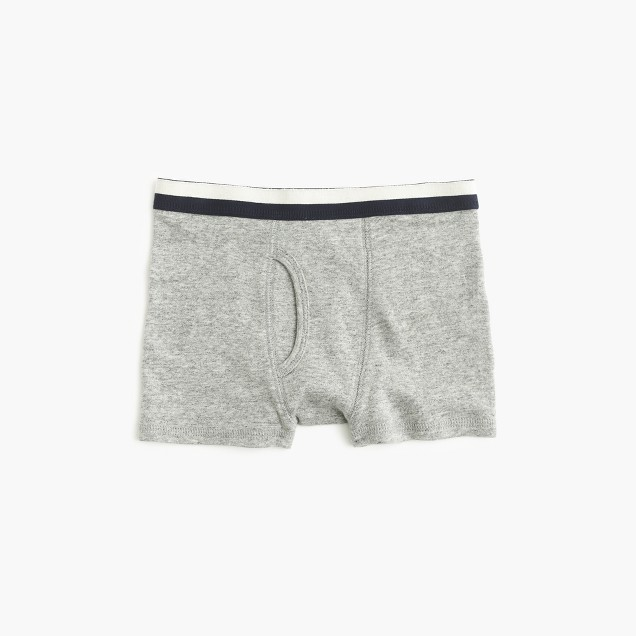 Boys' knit boxers in granite