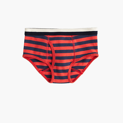 Boys' knit briefs in pool stripe