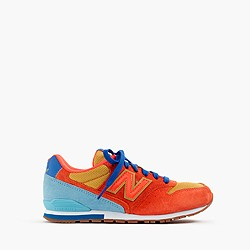 Kids' New Balance® for crewcuts K996 lace-up sneakers in neon flame