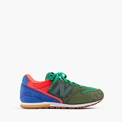 Kids' New Balance® for crewcuts K996 lace-up sneakers in pesto