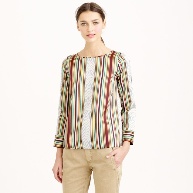 Collection ikat stripe top