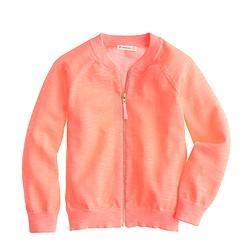 Girls' bomber sweater