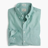 Tall Secret Wash shirt in end-on-end cotton