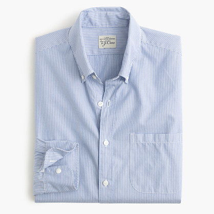 Tall Secret Wash shirt in fine stripe