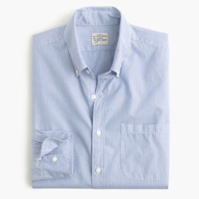 Slim Secret Wash shirt in fine stripe