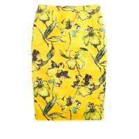 Collection lemon tiger lily pencil skirt