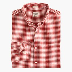 Secret Wash shirt in red gingham