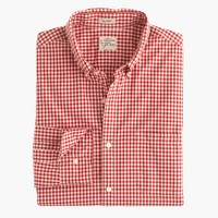 Secret Wash shirt in red gingham