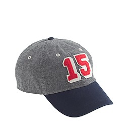 "Boys' ""15"" baseball cap in chambray"