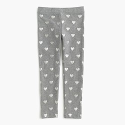 Girls' everyday leggings in hearts