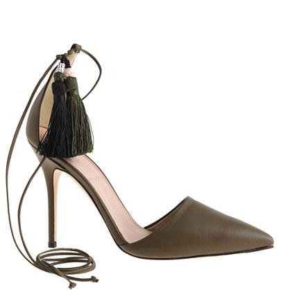 Roxie ankle-tie pumps