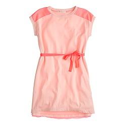 Girls' colorblock T-shirt dress