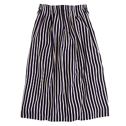 Pleated midi skirt in stripe
