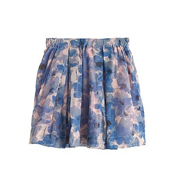 Girls' pull-on skirt in watercolor floral