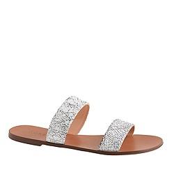 Malta crackled leather sandals