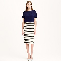 Double-stripe pencil skirt