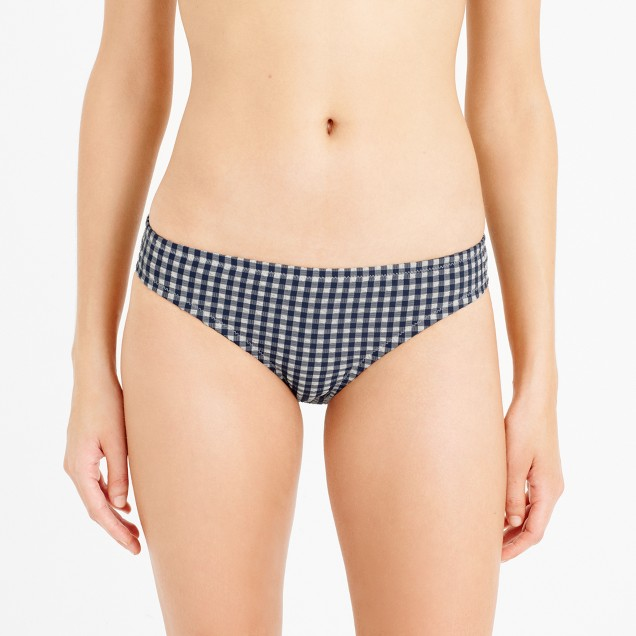 Gingham seersucker bikini bottom