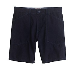Wallace & Barnes surplus short in Japanese indigo seersucker