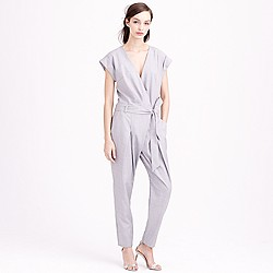 Collection tropical wool jumpsuit