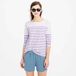 Three-quarter sleeve football T-shirt in stripe
