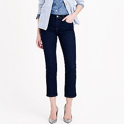 Vintage cropped jean in rinse wash