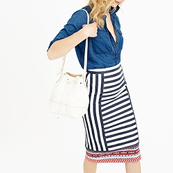 Collection striped tapestry pencil skirt